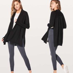 Lululemon Blissful Zen Black Merino Wool Sweater